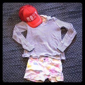 Gap girls pastel tie dye denim shorts size 10